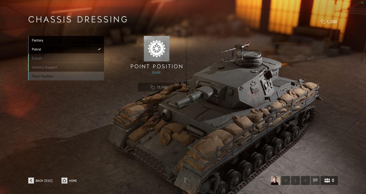 Battlefield V tank customization